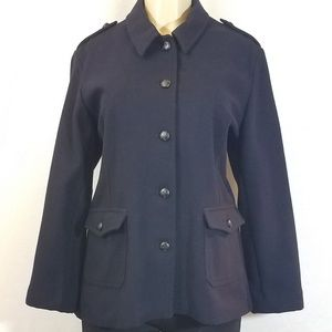Bass Navy Wool Pea Coat